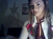 Hermosa lolita masturb�ndose por webcam para su novio - Webcams