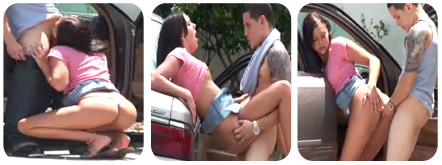 adolescentes pillados follando en la calle